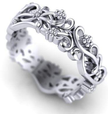 Unusual wedding ring commission #handmade #jewellery #bespoke #wedding #ring #floral