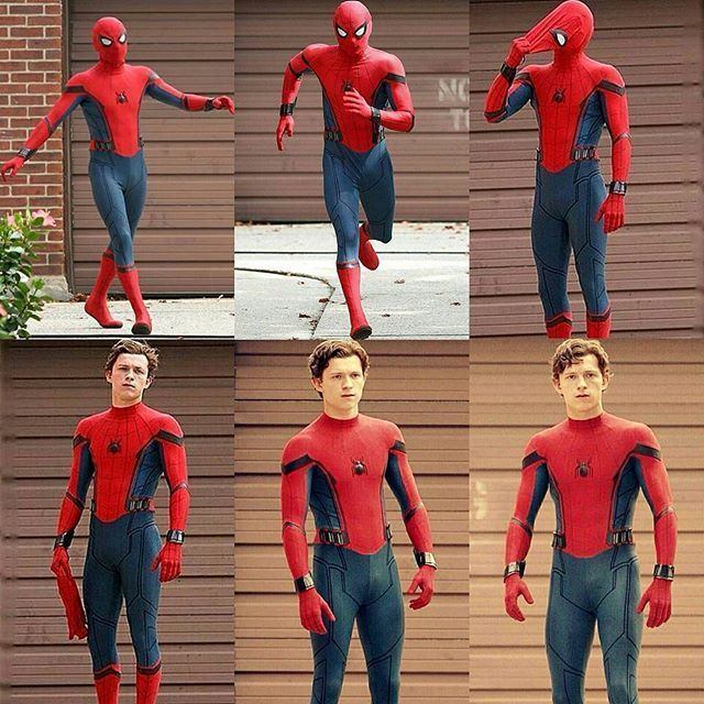 #SPIDEY SET PICS!. He is a pretty good Spider-Man. He looks like the appropriate age, he's funny. - Visit to grab an amazing super hero shirt now on sale!