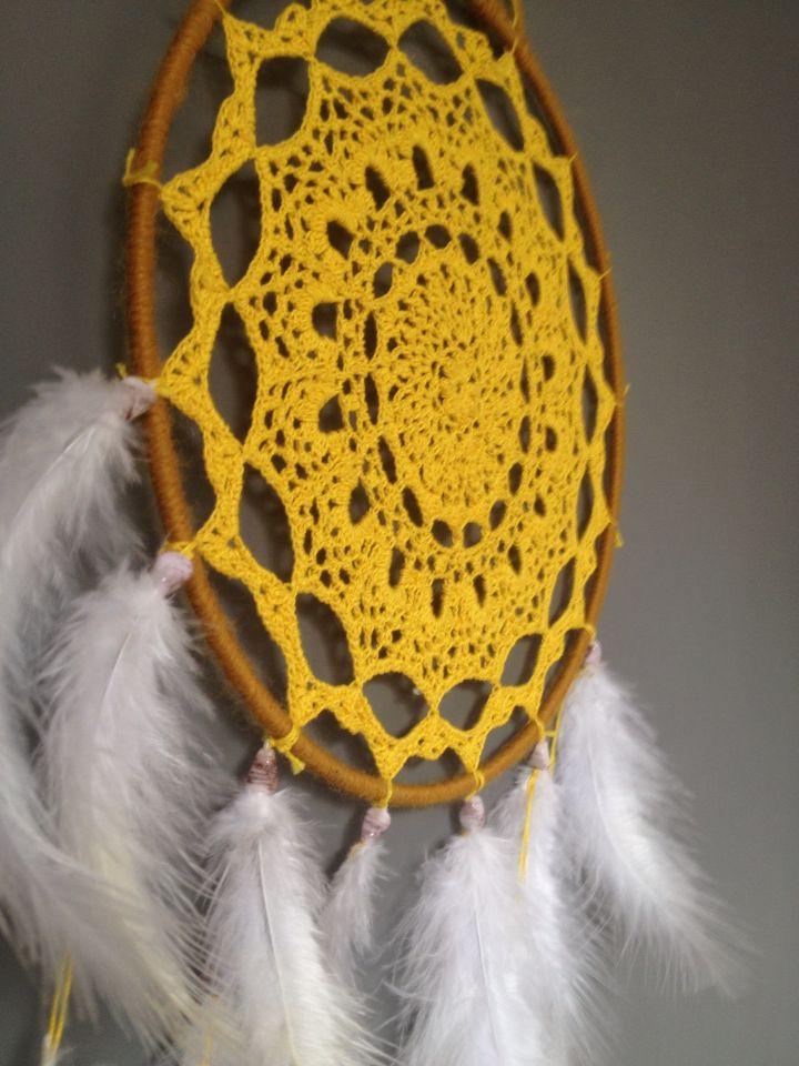 Beautiful handmade crochet dreamcatcher for sale! Visit my etsy shop for more details!  https://www.etsy.com/uk/shop/HandCraftedDreamsGB?ref=ss_profile