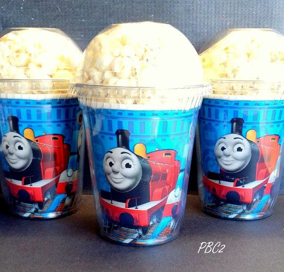 Popcorn Boxes,Thomas The Train Birthday Party Popcorn Boxes with dome lid on Etsy, $12.00