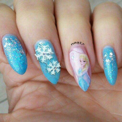 The 25 best disney frozen nails ideas on pinterest olaf nails disneys frozen nail art design prinsesfo Images