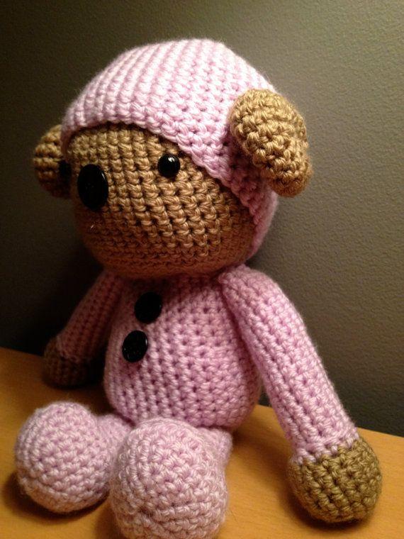 Teddy Bear in Hooded PJ's Critter by CritterCorral