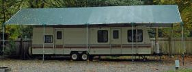 Make-Your-Own Portable Carport Shelter  **Long Lasting Heavy Duty Covers for MotorHome, 5th Wheel, RV, Trailer, Boat, Truck **Kits do not include pipes **Prices from $697.  **See: http://www.hiscoshelters.com/ **Come check out our website explore what we have because there are free shipping both ways you can feel comfortable you are going to get good purchase from us #garage #motorhome #rv #shelter #portablecarport