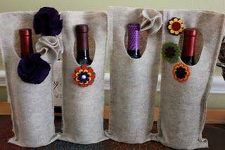 Felt Wine Bags