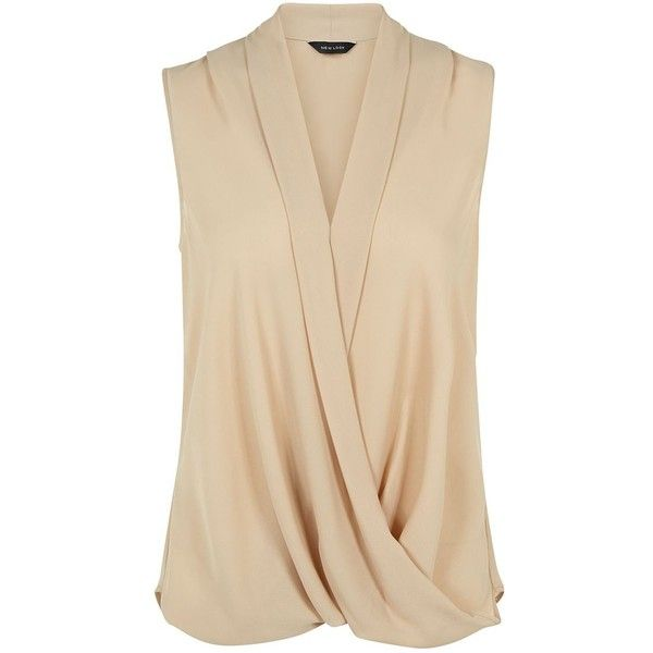 This wrap front sleeveless top is a great work-wear alternative to the classic shirt. Alternatively, try in the evening with white ripped jeans and heels. Wrap…
