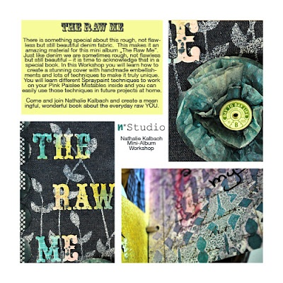 """""""The Raw Me"""" Mini Album Mixed Media #Workshop with Nathalie Kalbach. September 30, 2012 in Rome. For further details: http://timbroscrapmaniablog.blogspot.it/2012/04/raw-me-domenica-ore-1430.html #scrapbooking #mixedmedia"""