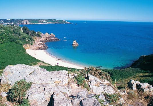 Two or three-night escape to a four-star spa hotel overlooking one of Jersey's most picturesque bays, with return flights, car hire, breakfast and one dinner