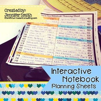 Planning your year with Interactive Notebooks doesn't have to be hard! Grab this Planning Sheets FREEBIE today and you can start right away!