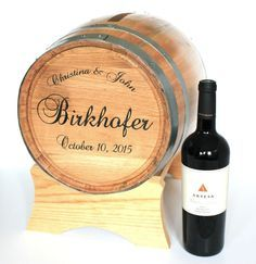 Rustic card holder for a wine lover's wedding reception https://www.etsy.com/listing/251074910/wine-barrel-wedding-card-holder-engraved