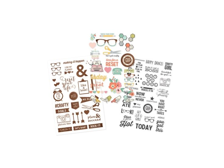 Simple Stories The Reset Girl Collection Clear Stickers