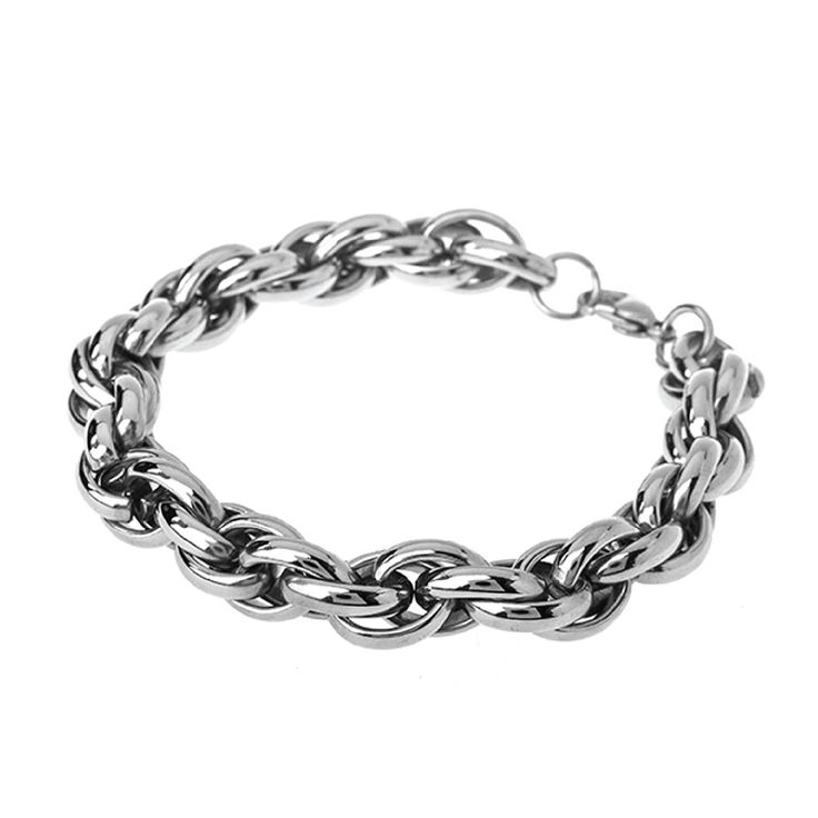 "BodyJ4You Bracelet Stainless Steel Chain Link Men's Cable Bracelet 8.5"""