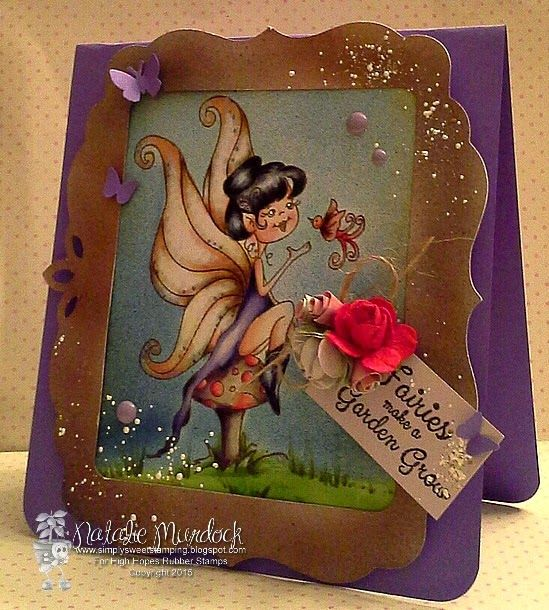 """High Hopes Stamps: """"Fairies make a Garden Grow"""" by Natalie using  New Release """"Julie's Touch"""" coming May 1"""
