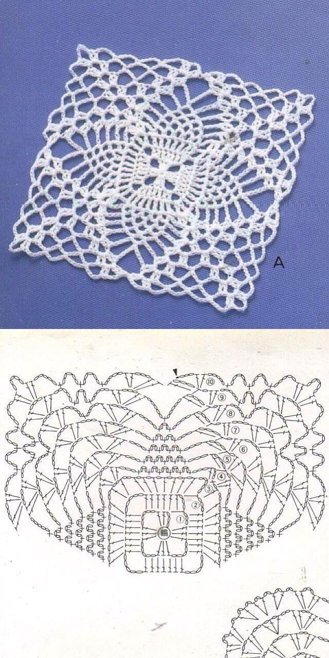 467 best Patrones De Ganchillo images on Pinterest | Crochet doilies ...