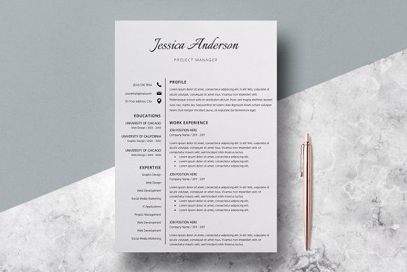 Resume Template/CV/Jessica Anderson - Welcome to the LucaTheme! Our templates will serve You to present Your skills, achievements and experience in order to shape You skills on the new position and get Your dream job. You can modify LucaTheme's templates in a very easy way according to Your own needs to show them later to Your future employer.  Professional CV /Resume Template Design (Optional second page) + Cover Letter & References for Microsoft Word US Letter and A4 Templates included…
