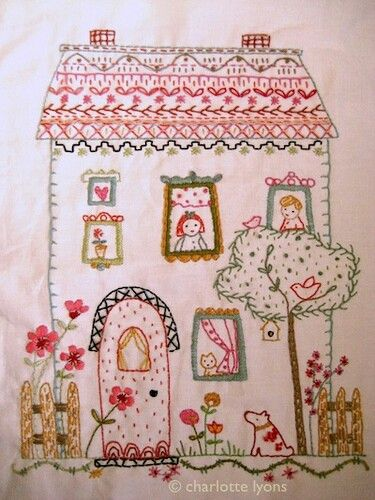 Saturday Stitches: House embroidery #loisirs #créatifs #broderie