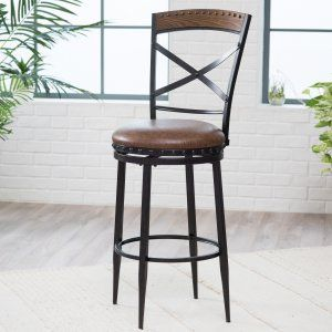 Belham Living Telluride Swivel Counter Stool - Add modern style and beauty to your home with the Belham Living Telluride Swivel Counter Stool . Crafted from metal with wood accents, the antique...