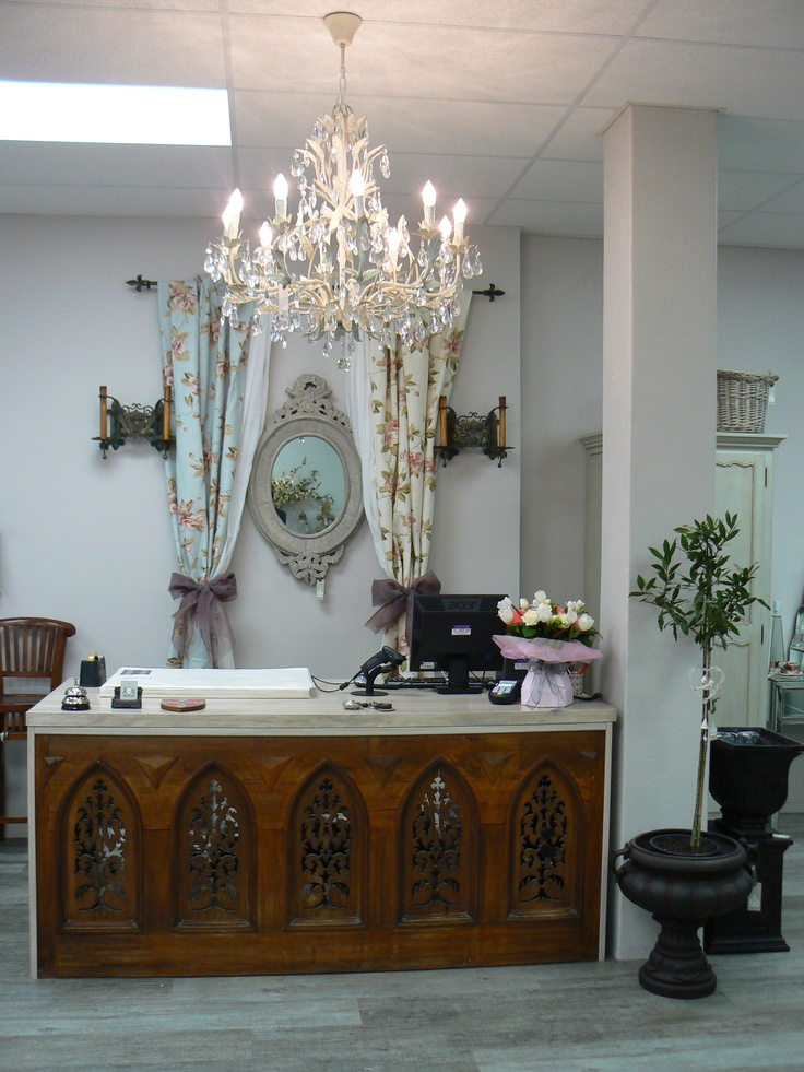 Counter made from old church alter
