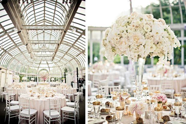: Botanical Gardens Wedding, Wedding Receptions, White Wedding, Spring Wedding, Greenhouses Wedding, Brooklyn Botanical Gardens, Wedding Centerpieces, Gorgeous Wedding, Outdoor Receptions