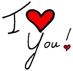 愛してるのおしゃれイメージ画像。