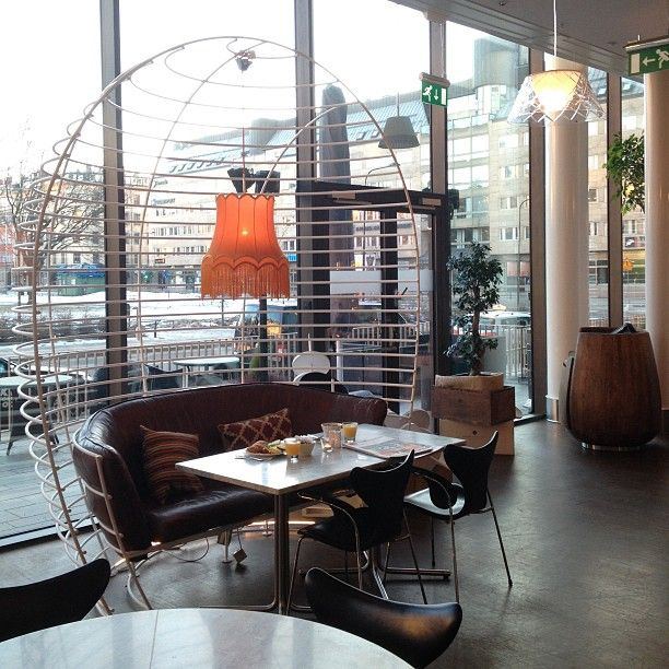 Instagram photo by @inredningshjalpen (Inredningshjalpen) #diningarea at Clarion Hotel Sign #Stockholm