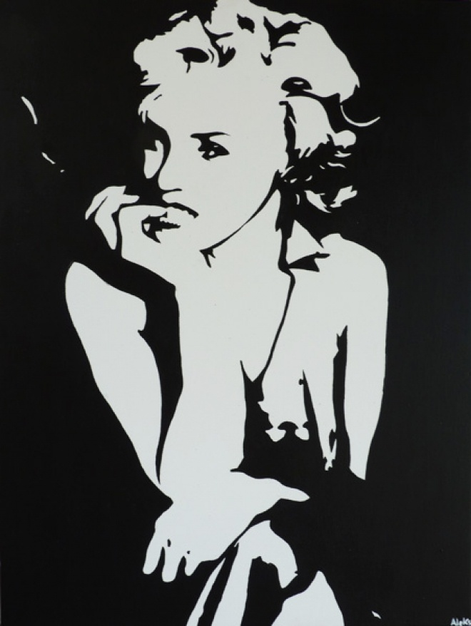 Look Like Marylin Pop Art...kind of Andy Warhol revisited by Alexandra Carrez Aka Aleks