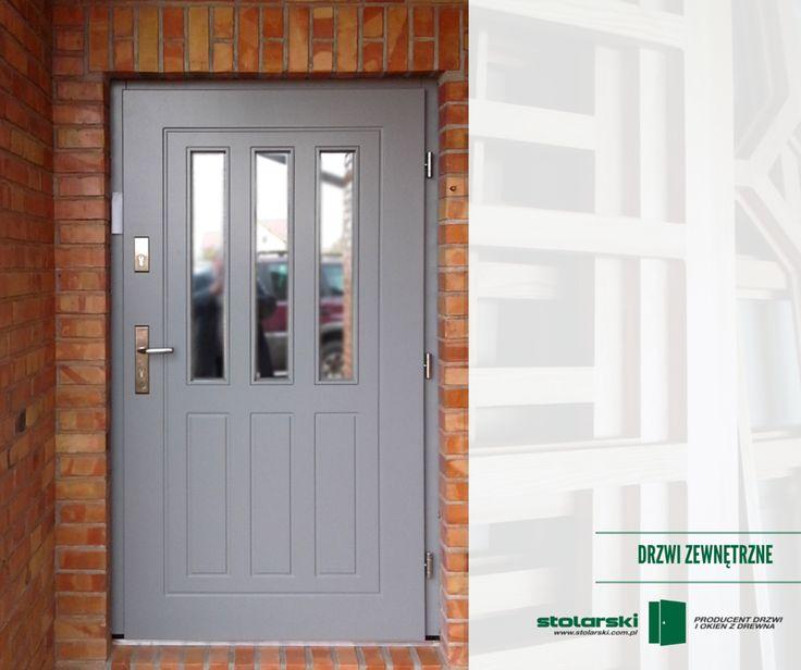 Drzwi zewnętrzne  #drzwidrewniane #drzwizewnetrzne #door #wood #stolarnia #drzwimarzeń #realizacje  www.stolarski.com.pl