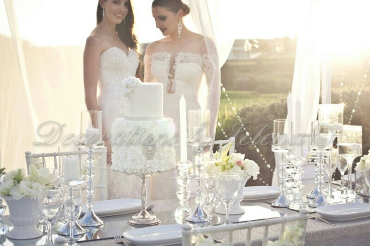 Luxury wedding reception along and design by decorations by jelena