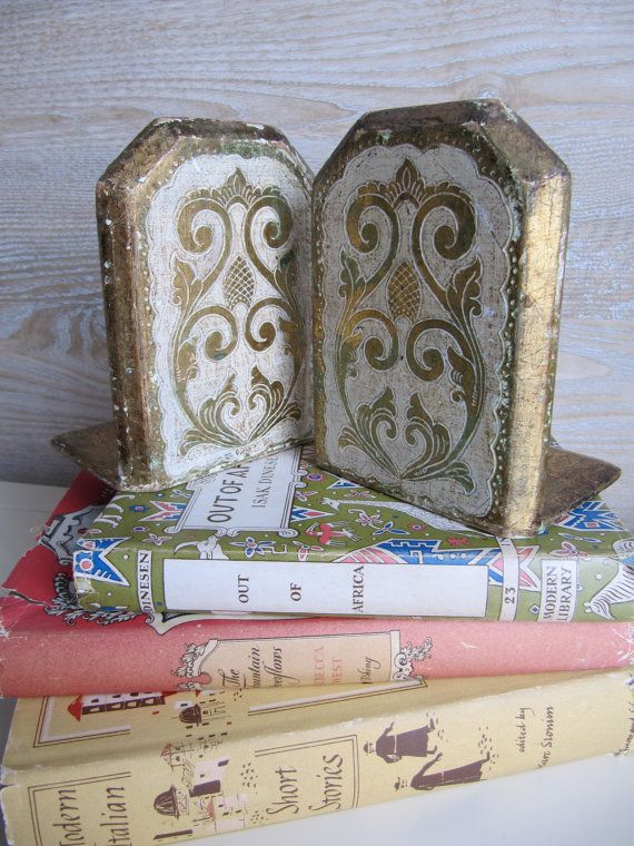 PAIR of Vintage Florentine Gilt Bookends from billysbungalow on Etsy