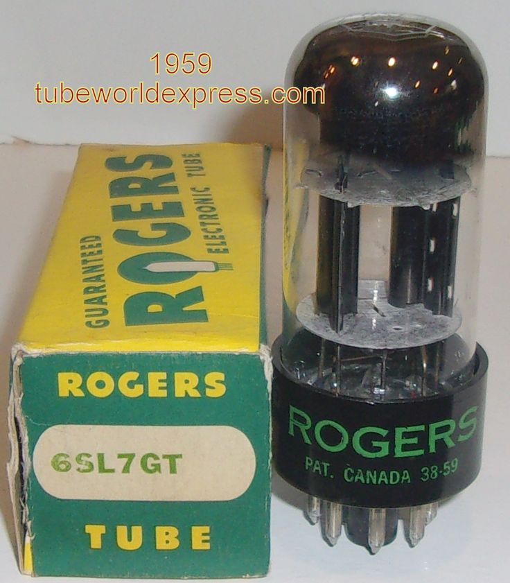 6SL7GT Sylvania NOS branded Rogers Canada 1959 tall bottle (2.1/2.2ma)