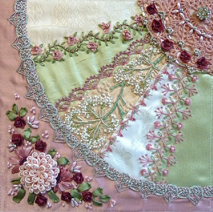 281 Best Crazy Quilting Beading Embroidery 4 . . . . Images On Pinterest | Crazy Quilting ...