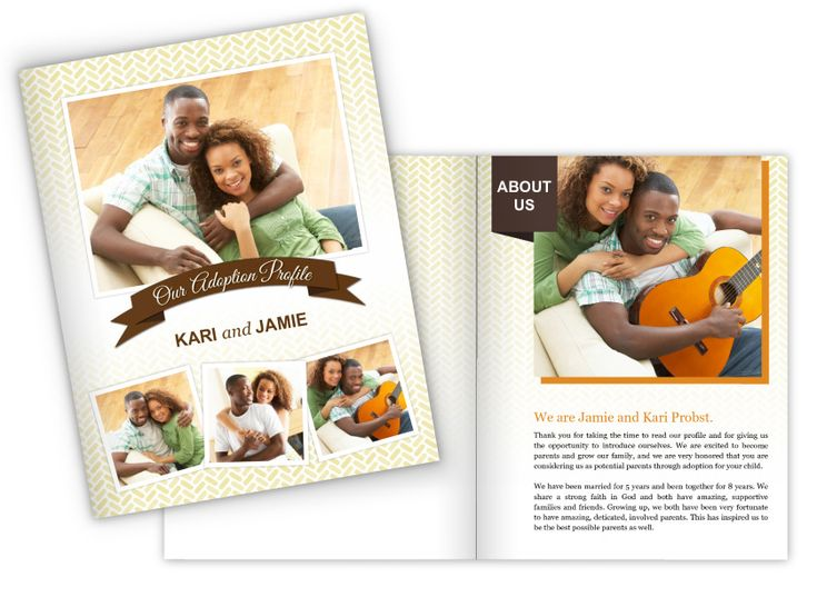 8.5x11 Family Story and Adoption Profile Booklet template. www.focusinpix.com