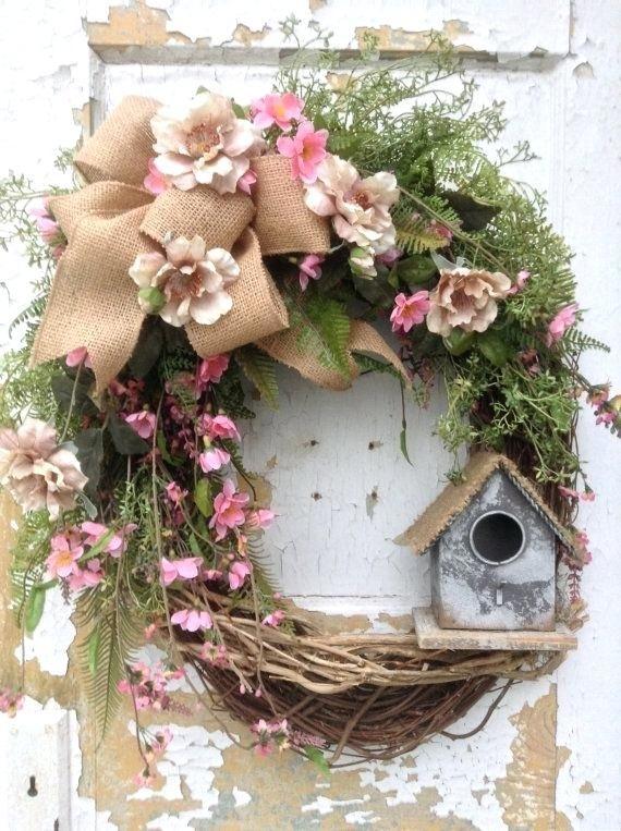 Front Door Wreath Ideas For Spring Spring Wreath Summer Wreath