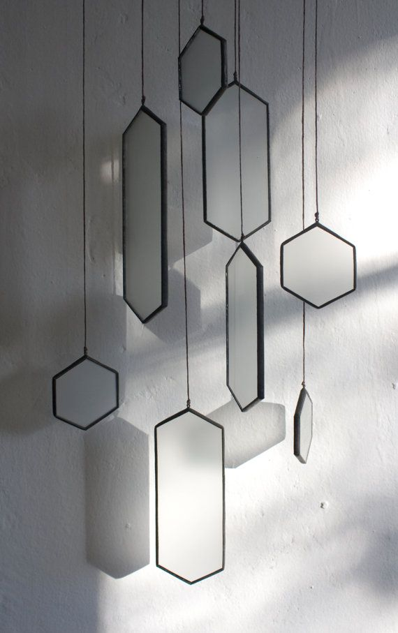 Stained Glass Elements: Matte Hex set of 8 by BespokeGlassTile