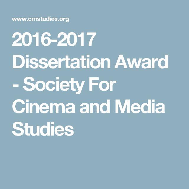2016-2017 Dissertation Award - Society For Cinema and Media Studies