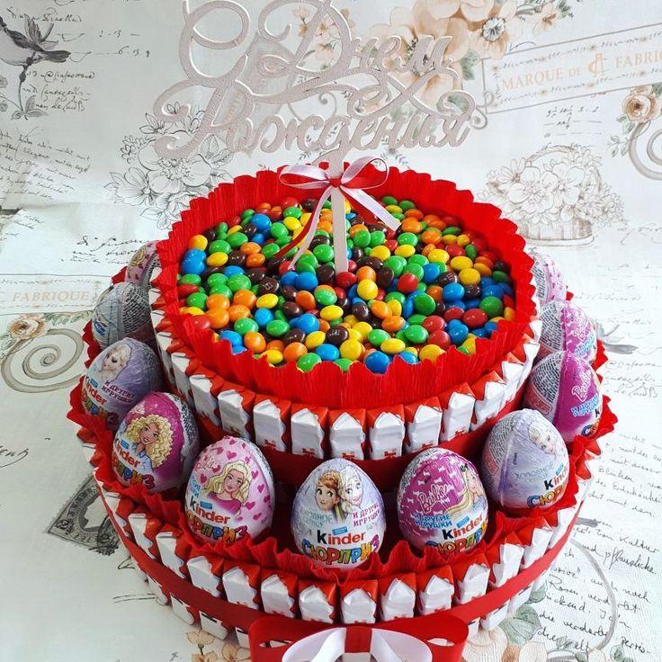 38 отметок «Нравится», 5 комментариев — Приглашения и бонбоньерки (@poghosyan_shoghik) в Instagram: «А вот торта из киндеров на моей страничке не был 🤔. Приятный и необычный подарок на день рождения…»