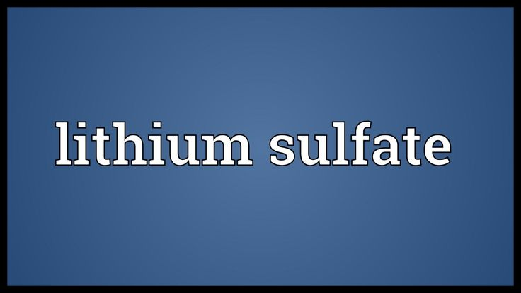 Lithium sulfate Meaning -   WATCH VIDEO HERE -> http://bestdepression.solutions/lithium-sulfate-meaning/      *** lithium as a treatment for depression ***   The video shows what lithium sulphate means. The lithium salt of sulfuric acid, Li2SO4, used in the treatment of manic depression, and so on. Lithium sulphate Meaning. How to pronounce, definition audio dictionary. How to say lithium sulphate....