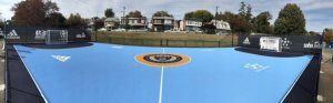 Futsal Court for the Philadelphia Union with custom colors by Laykold Masters and installed by Ace Surfaces.