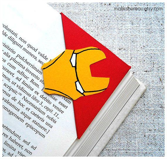 Iron Man corner bookmark by maliksbureau on Etsy, €2.20