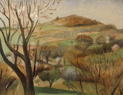 Otakar Kubín (Othon Coubine) (Czech, 1883-1969), Landscape, Provence, 1920s