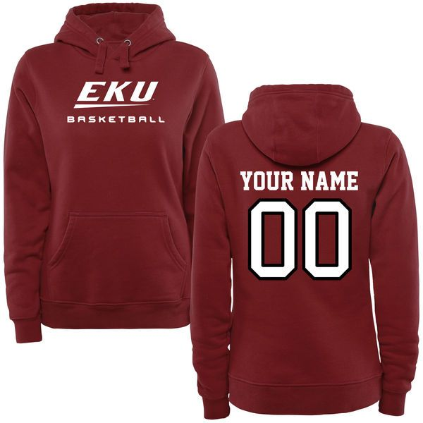 Eastern Kentucky Colonels Women's Personalized Basketball Pullover Hoodie - Maroon - $69.99