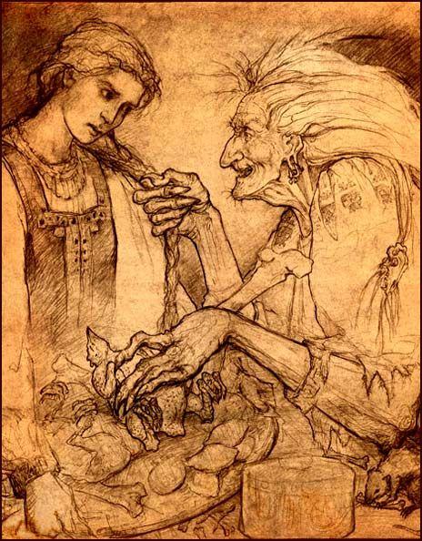 The Owls Skull: Baba Yaga (Grandmas, Babushkas, and Chicken Legs) ... A post that makes me miss my grandma:(.