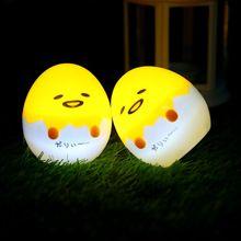 Милые Японские Аниме Gudetama Яйцо Детские Игрушки ночник Ленивый яичный Желток Gudetama Настольная Лампа Сна СВЕТОДИОДНЫЕ настольные Лампы дома декор
