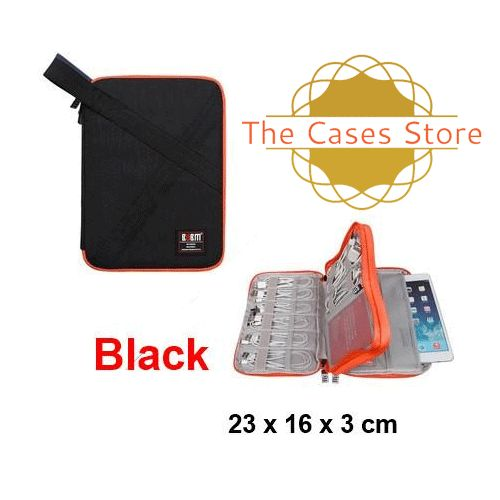 """DIGITAL ACCESSORIES STORAGE BAG FOR IPAD AIR 9.7"""" / IPAD MINI 7.9"""" / TABLET. The casual sleeve nylon pouch is shockproof and very durable. Get one now at https://www.thecasesstore.com/products/digital-accessories-storage-bag-for-ipad-air-9-7-ipad-mini-7-9-tablet #iPadminis #iPadminicases #iPads #iPadscases #Tabletcase #Coolcases #thecasesstore"""