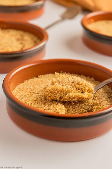 15 best algerian recipes images on pinterest algerian food tamina algerian toasted semolina honey dessert forumfinder Image collections