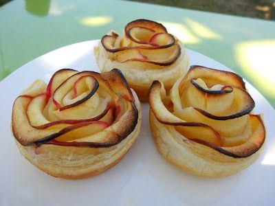 creaymme: Appel-rozentaartjes met bladerdeeg