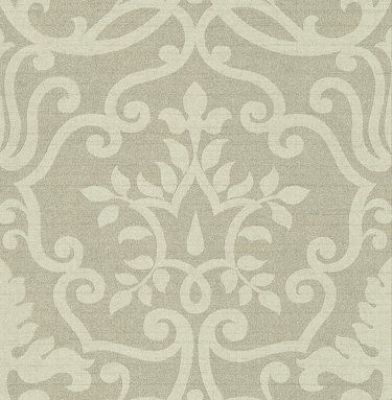 Kashmir+Seagrass+(1934/390)+-+Prestigious+Wallpapers+-+A+raw+silk+fabric+effect+wallcovering,+with+a+delicate+sheen,+overlaid+with+a+subtle+leaf+damask+design.+Shown+in+soft+green.+Other+colours+and+silk+background+available.+Please+ask+for+sample+for+true+colour+match.