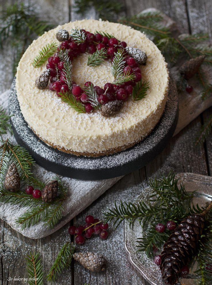 Juleostekake med pepperkakebunn og appelsin