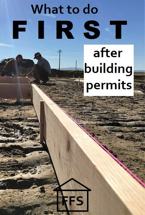 How to build your own house- what to do first after building permits