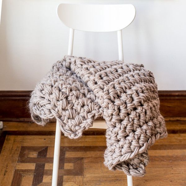 Hand Crochet Throw Blanket Kit