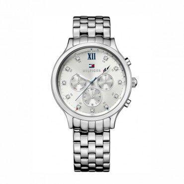 1781610 Γυναικείο ρολόι TOMMY HILFIGER Amelia με ημέρα-ημερομηνία, ασημί καντράν και μπρασελέ | Ρολόγια TOMMY κατάστημα ΤΣΑΛΔΑΡΗΣ Χαλάνδρι #Tommy #Hilfiger #amelia #μπρασελε #ρολοι